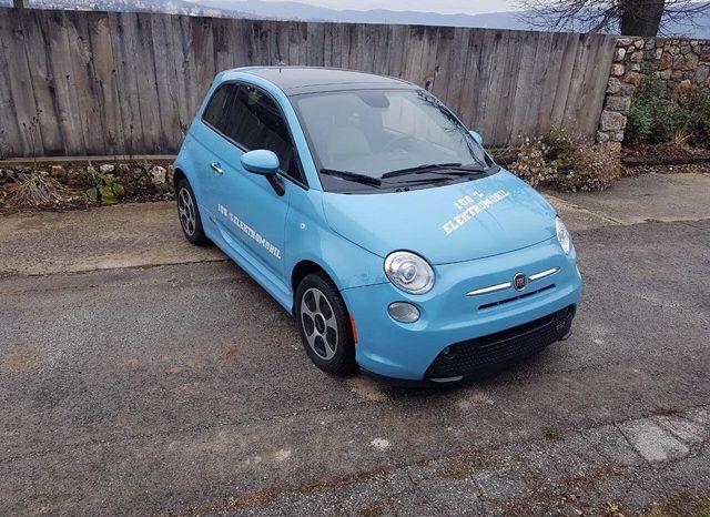 Fiat 500e Modrá 2015 #493 full